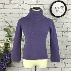 Sarah Spencer Merino Wool Turtleneck Sweater